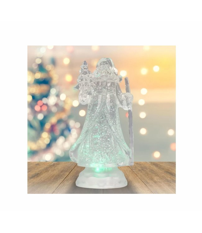 """HOLIDAY LED COLOUR CHANGING SANTA CLAUS WHITE 10"""" (MP8)"""