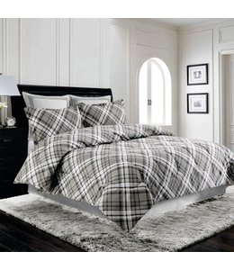 LAUREN TAYLOR RICHMOND COMFORTER SET GREY (MP2)