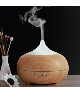 LAUREN TAYLOR AROMA DIFFUSER w/LED WHITE/WOOD (MP8) 400ml