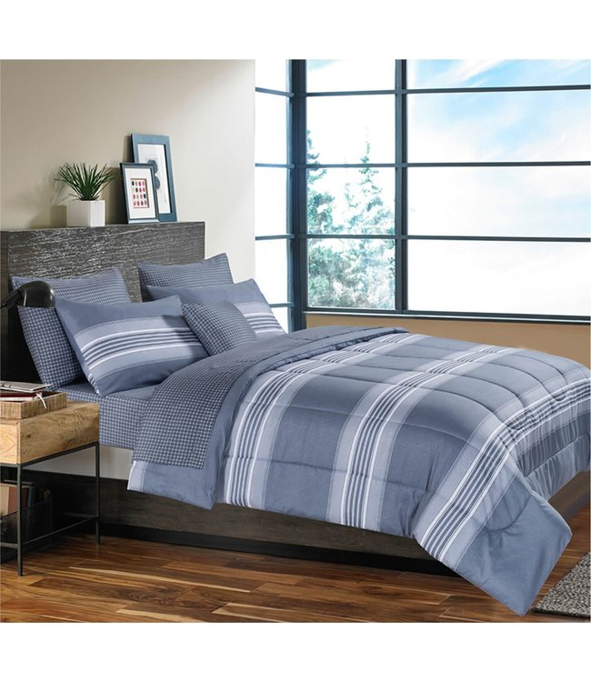 STEFAN 8PC COMFORTER SET GREY (MP2)