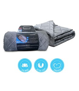 """SERENITY 15lb WEIGHTED BLANKET GREY 60X80"""" (MP2)"""