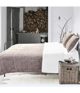 RUSTIC CABIN SIGRID FLEECE/SHERPA COMFORTER SET TAUPE (MP2)