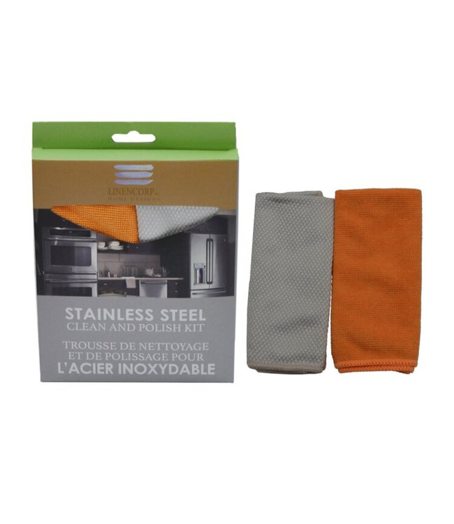"""2pk STAINLESS STEEL CLEAN AND POLISH KIT AST 12X14"""" (MP24)"""