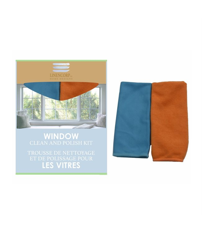 "2pk WINDOW CLEAN AND POLISH KIT AST 12X14"" (MP24)"