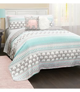 mari & mac ELIE THE ELEPHANT QUILT SET (MP2)
