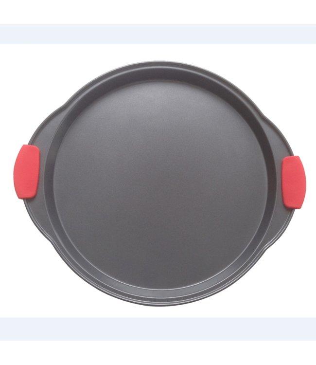 A LA CUISINE NON STICK PIZZA PAN w/SILICONE HANDLES (MP12)