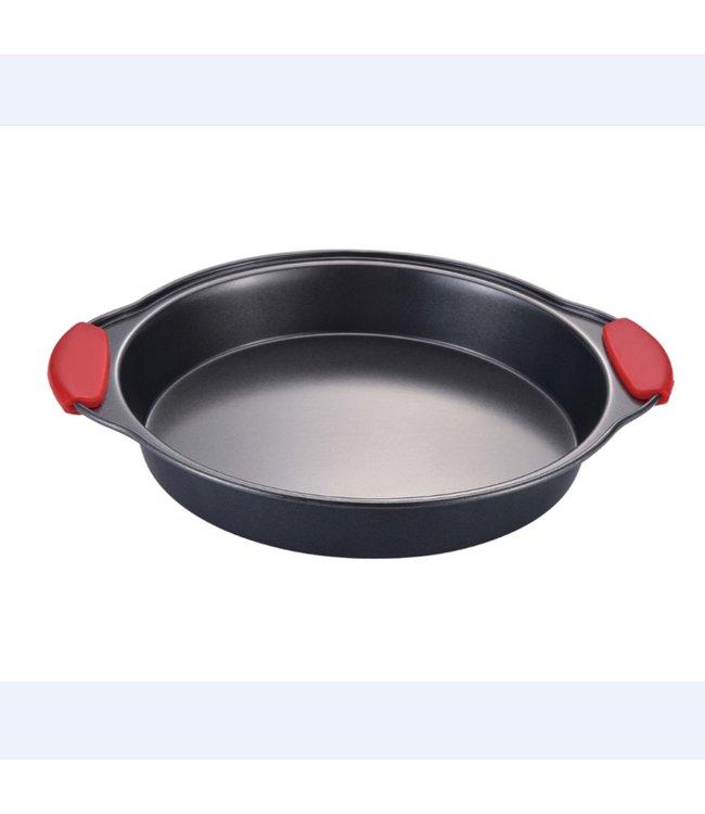 A LA CUISINE NON STICK ROUND CAKE PAN w/SILICONE HANDLES (MP12)