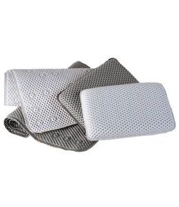 LE SPA TRANQUILITY 2pc TUB MAT AND BATH PILLOW SET AST (MP12) 15X27""