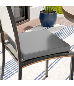 """TROPICALE 2pk OUTDOOR CHAIR PAD AST 17X17"""" (MP12)"""