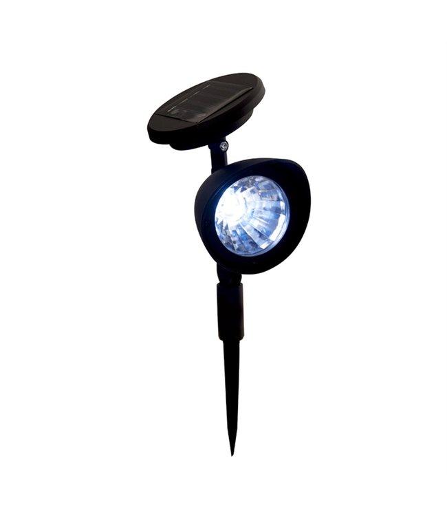 """LAUREN TAYLOR SOLAR POWERED GARDEN SPOT LIGHT BLACK 6X3X12"""" (MP12)"""