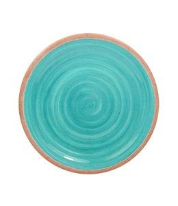 "SOL DE MARE LEIRIA MELAMINE DINNER PLATE SOLID TURQUOISE 10.5"" (MP12)"