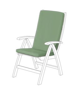 """TROPICALE OUTDOOR HIGHBACK CHAIR PAD AST 42X17.5"""" (MP12)"""
