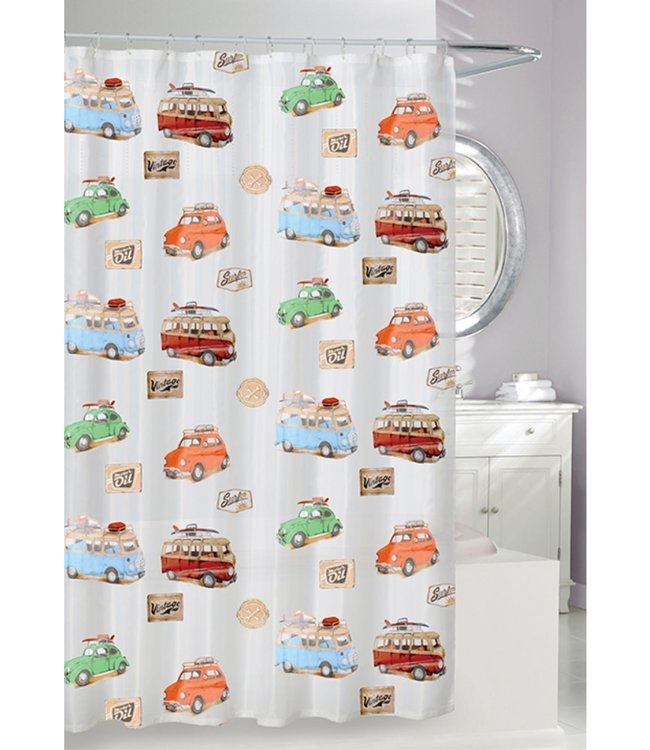 ON THE ROAD EVA SHOWER CURTAIN FROST/MULTI