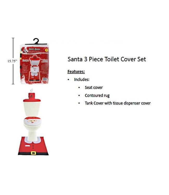 SANTA 3pc BATH MAT AST