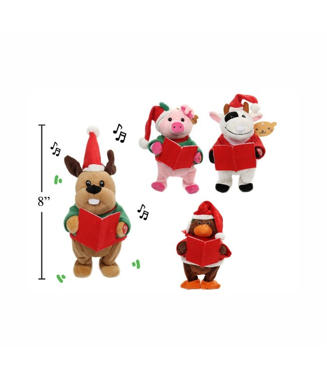 """ANIMATED SINGING AND MOVING CHRISTMAS FARM ANIMALS AST 8"""""""