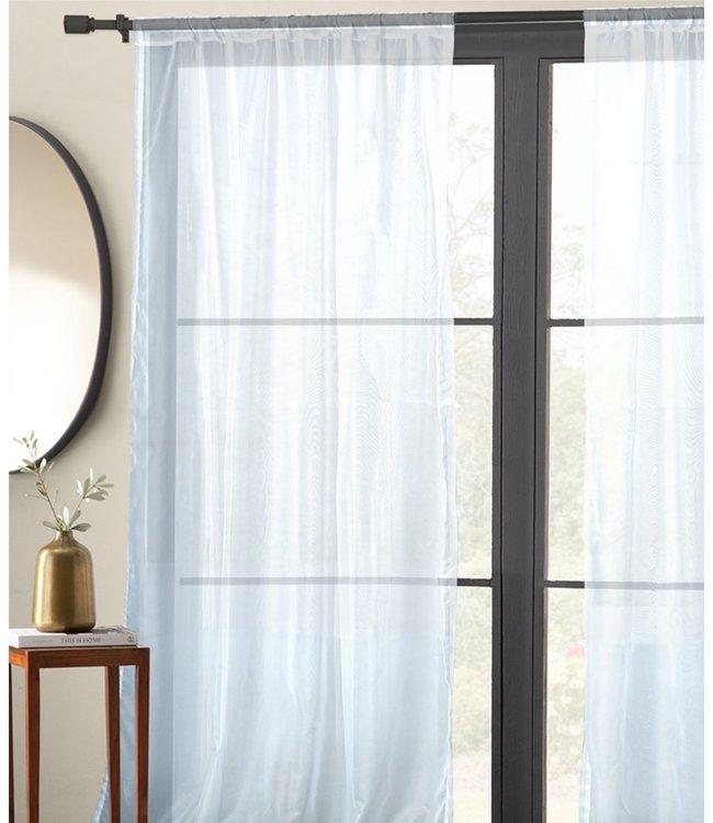 LAUREN TAYLOR 2pk BASIC ELEGANCE POLE TOP WINDOW PANELS