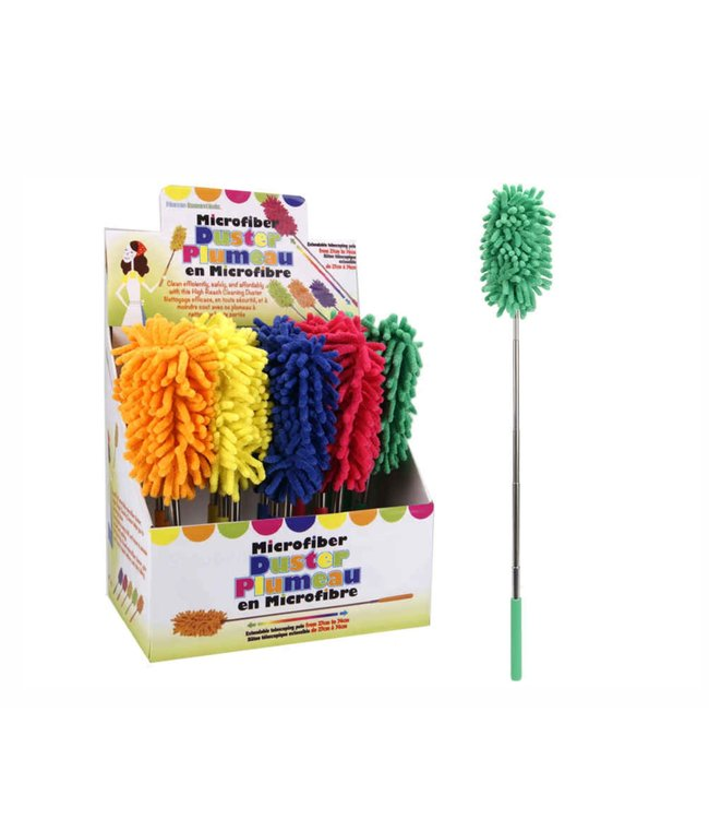 NEON MICRO FIBER DUSTER w/EXTENDABLE WAND AST