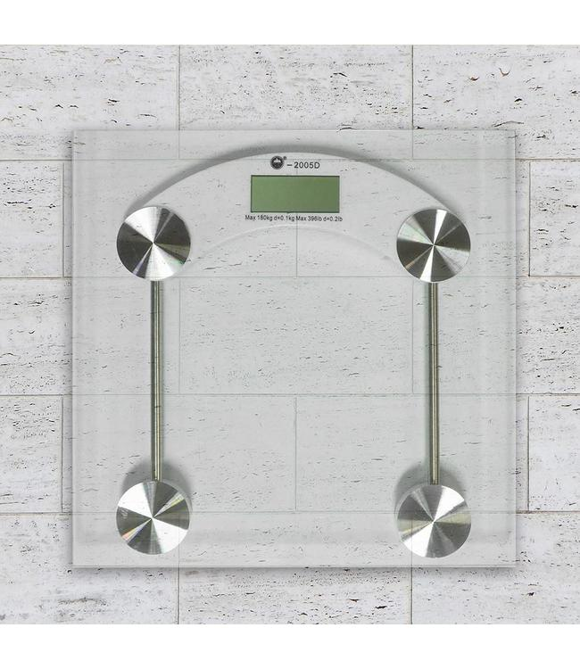ADRIEN LEWIS SQUARE GLASS DIGITAL PERSONAL SCALE (MP10)