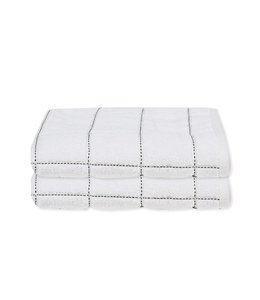 LAUREN TAYLOR *MIDNIGHT CHECK TOWEL COLLECTION