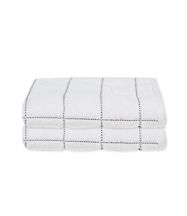 LAUREN TAYLOR MIDNIGHT CHECK TOWEL COLLECTION