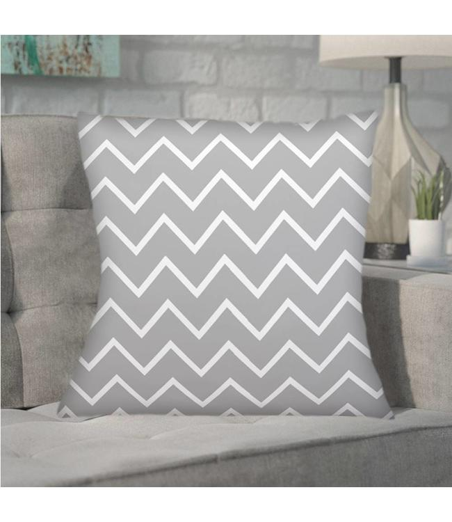 "ADRIEN LEWIS *CHEVRON FEATHER FILLED CUSHION 20X20"" (MP6)"
