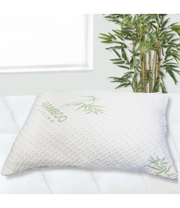 "MAISON BLANCHE BAMBOO COVER - CHOPPED MEMORY FOAM PILLOW WHIT 18x26"" (MP6)"