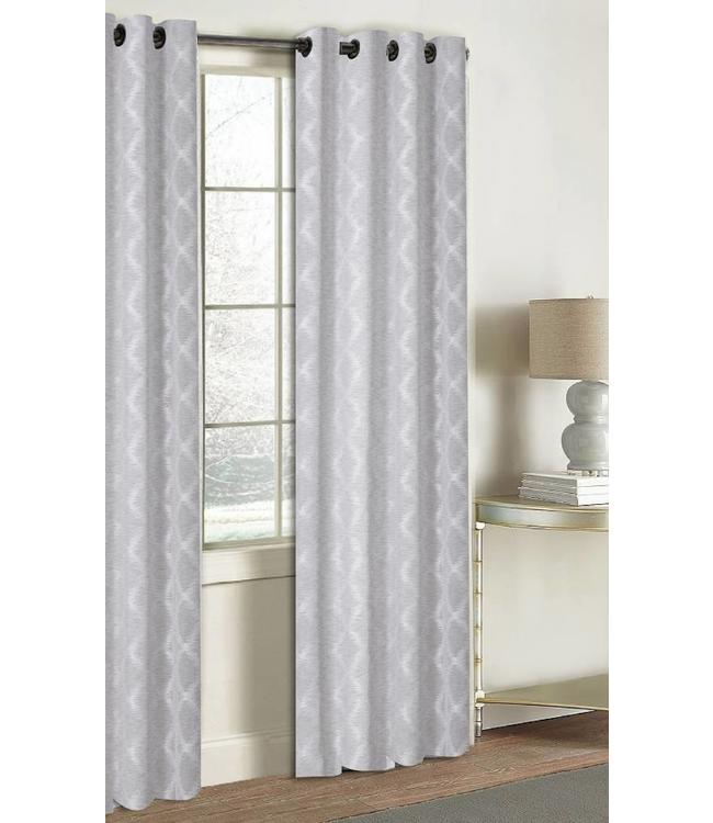 LAUREN TAYLOR *ARIES JACQUARD WINDOW PANEL GREY