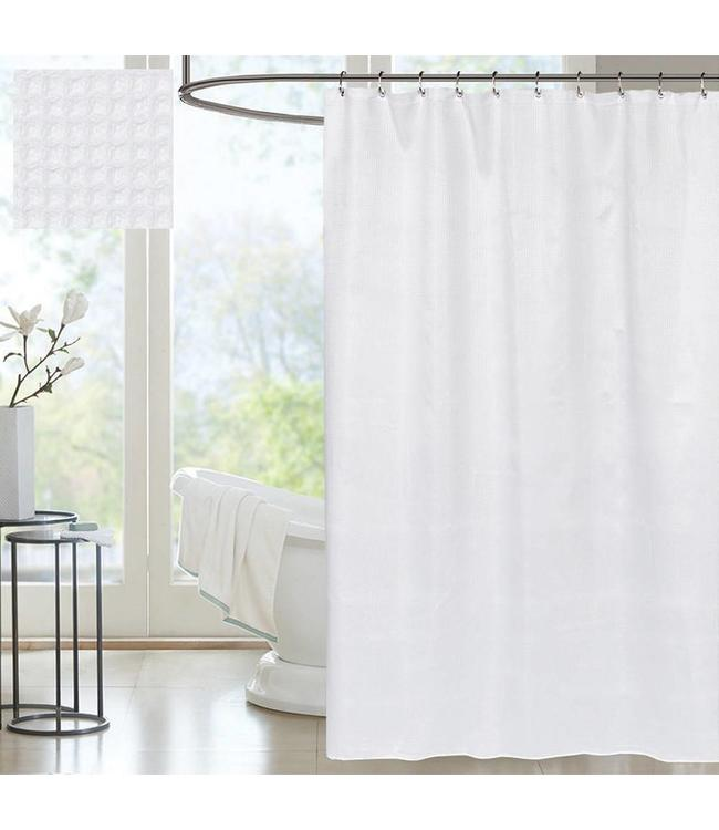 W HOME COTTON WAFFLE SHOWER CURTAIN WHITE 72X72 MP12