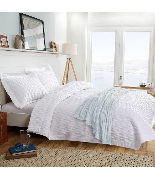 LAUREN TAYLOR SANNA WAVE PLEATED 3PC QUILT SET (MP2)