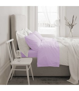*T1000 COTTON RICH SHEET SET (MP4) MAUVE DOUBLE