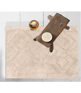 DIAMOND PATTERN COTTON BATH MAT AST 20X28""
