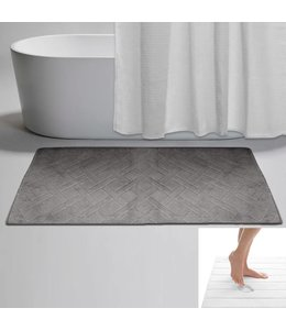 "LAUREN TAYLOR DIAMOND MEMORY FOAM BATH MAT AST 20X30"" (MP18)"