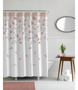 "SAKURA PRINTED SHOWER CURTAIN 70x72"" (MP12)"