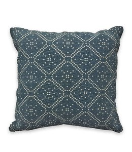 "ADRIEN LEWIS CELESTIAL STONEWASH BATIK COTTON DENIM CUSHION 18X18"" (MP6)"