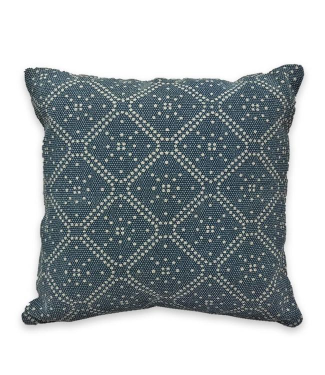 "ADRIEN LEWIS *CELESTIAL STONEWASH BATIK COTTON DENIM CUSHION 18X18"" (MP6)"