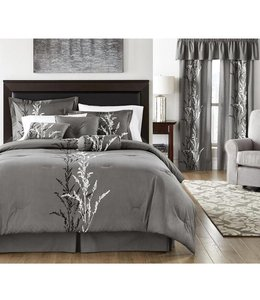 *PRESECCO 6PC DUVET COVER SET (MP6) CHARCOAL