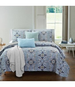 *EMILIA QUILT SET BLUE/GREY (MP3)