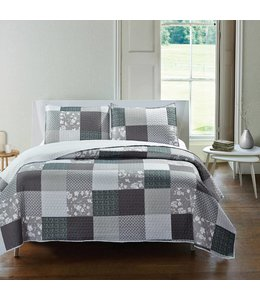 *GRAHAM QUILT SET GREY (MP3)