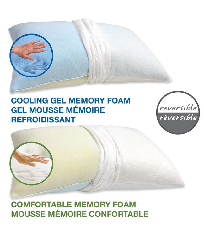 *GEL MEMORY FOAM SHREDED PILLOW