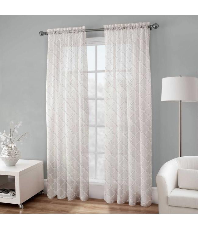 *BRITTA EMBROIDERED VOILE WINDOW PANEL