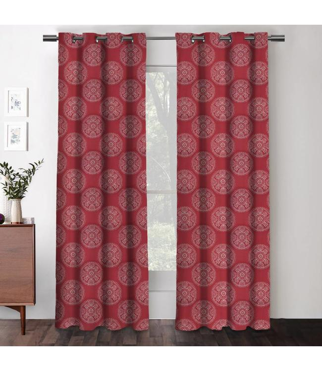 *NADO PRINTED FAUX SILK WINDOW PANEL