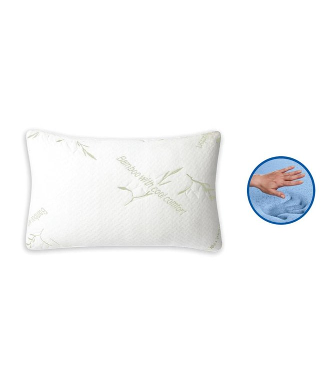 "MAISON BLANCHE BAMBOO COVER - GEL MEMORY FOAM PILLOW WHIT 15x24"" (MP6)"