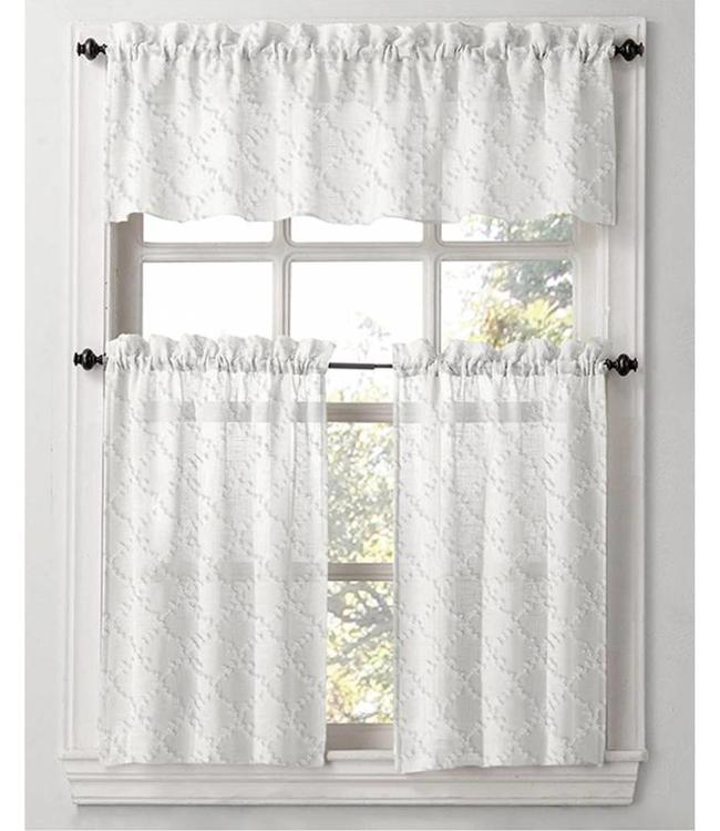 BRITTA 3PC KITCHEN CURTAINS (MP12)