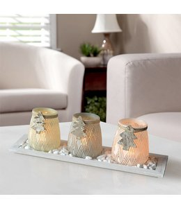 LAUREN TAYLOR 4pc TREE CANDLE SET (MP6)