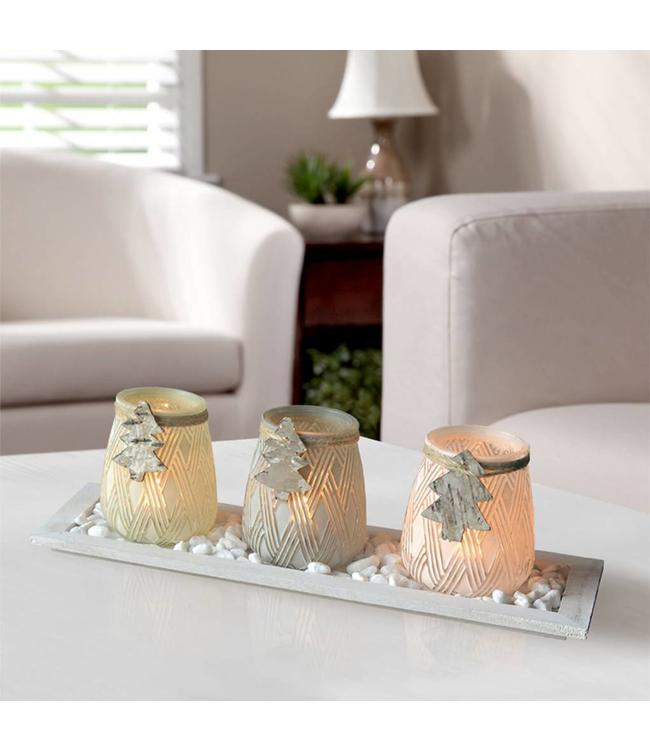 LAUREN TAYLOR *4pc TREE CANDLE SET (MP6)
