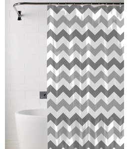 *CHEVRON SHOWER CURTAIN AST 70X72 (MP12)
