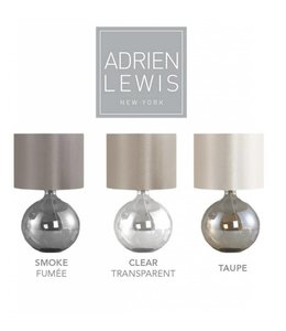 ADRIEN LEWIS *ROUND GLASS TABLE LAMP SMOKE (MP6)