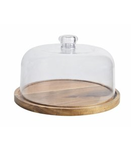 A LA CUISINE *ACACIA CHEESE CUTTING BOARD WITH CLEAR COVER (MP8)