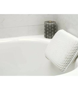 LAUREN TAYLOR *BATH PILLOW w/SUCTION CUPS WHITE (MP6)