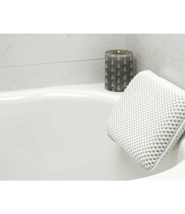 LAUREN TAYLOR BATH PILLOW w/SUCTION CUPS WHITE (MP6)